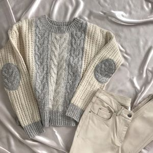 Anthropologie Sleeping on Snow Cropped Sweater 2-4